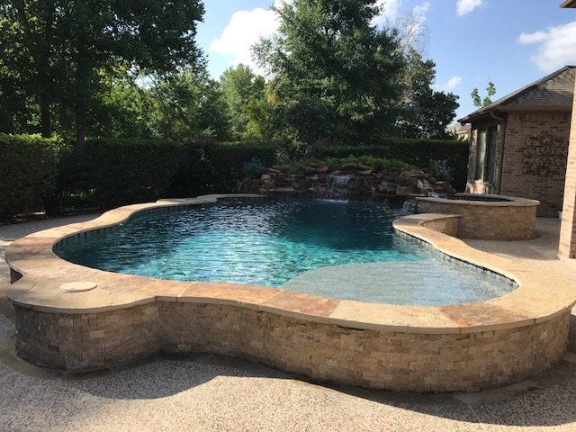 Raised pools eastex pools for Raised pool designs